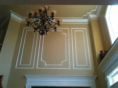 Shadow Boxes and Decorated Foyer by CarpentryMasters.co