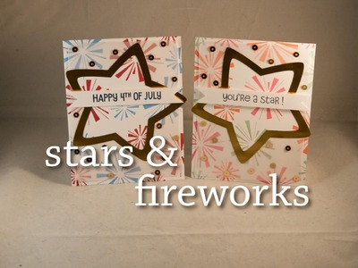 Stars and Fireworks - Vellum Frames and Lawn Fawn Stackables