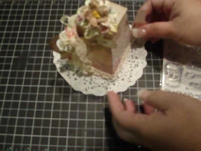 Tea Pot Box and Tea Bag Mini Album