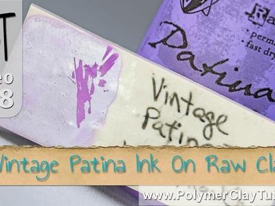 Testing Vintaj Patina Ink on Raw Polymer Clay