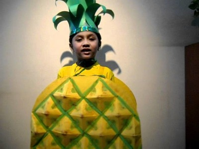 Winning entry of Vedant as Pineapple in Fancy dress.