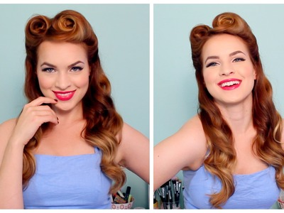 1940's. 50's Pinup Hair and Makeup
