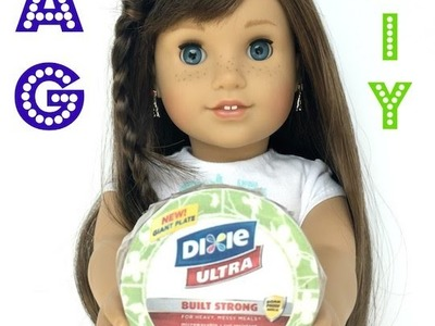 American Girl Paper Plates