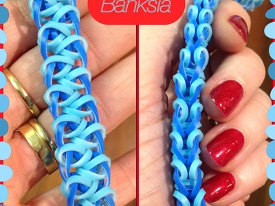 Banksia bracelet tutorial (hook only) rainbow loom bands