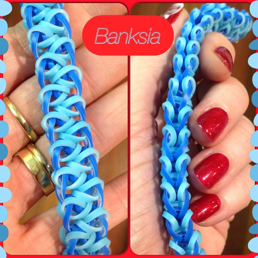 Banksia bracelet tutorial (hook only) rainbow loom bands