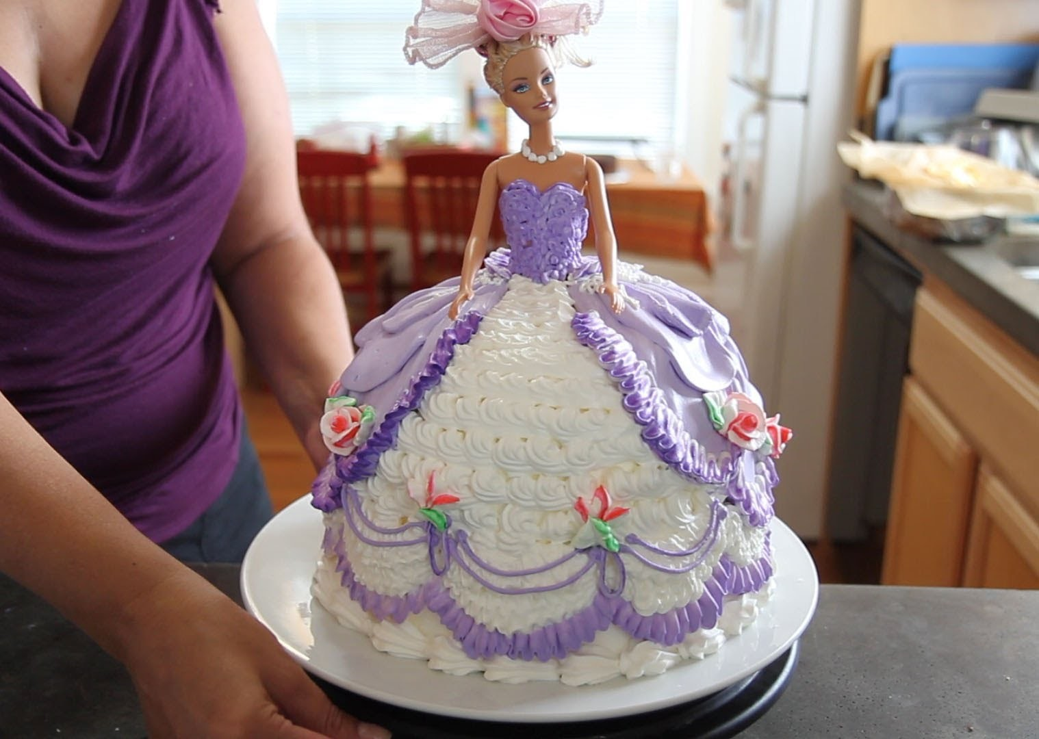 Barbie Doll Cake How to decorate a Barbie Doll.Princess Cake with icing