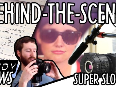 Behind-the-scenes: DIY video light, airbag & boom mic. Super Slow Motion : Indy News