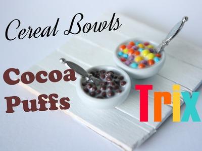 Cereal Bowls: Cocoa Puff & Trix