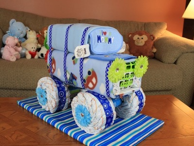 "Diaper Utility Vehicle ""DUV"" Diaper Cake"