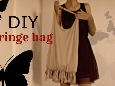DIY: easy BOHO hobo fringe bag (no sew)