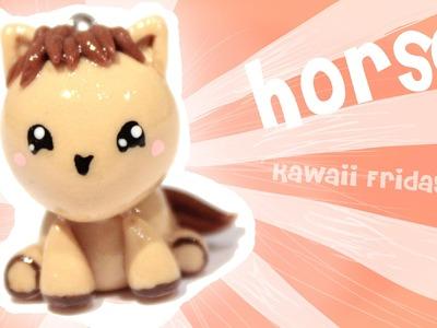 ◕‿◕ Horse! Kawaii Friday 108 - Tutorial in Polymer clay!
