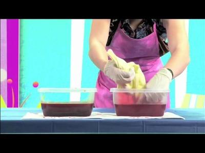 Edie's Fashion Factory #3:  Easy No-Wax Batik Dyeing