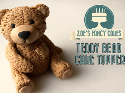 Fondant teddy bear cake decorating How To Cake Free Tutorial