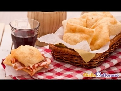 Gnocco fritto ( fried savory dough ) Italian recipe