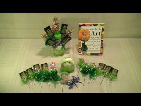 Happy Frog Candy Bouquet - How To Make Candy Bouquets - Delectable Art