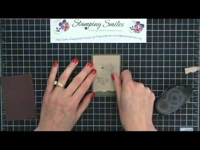 How to easily tear and layer card stock for your handmade greeting cards.