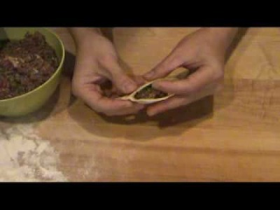 How to fold a pleated crescent dumpling