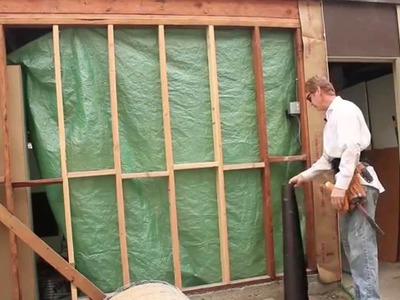How to lath a stud wall with Pre-Furred wire with paper attached