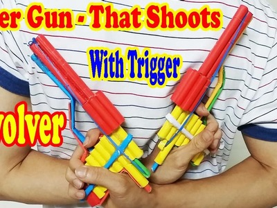 How to Make a Paper Gun (Revolver) that Shoots - Pistol With Trigger