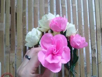 [How to make] miniature rose paper flower tutorial - Hướng dẫn làm hoa hồng tỉ muội