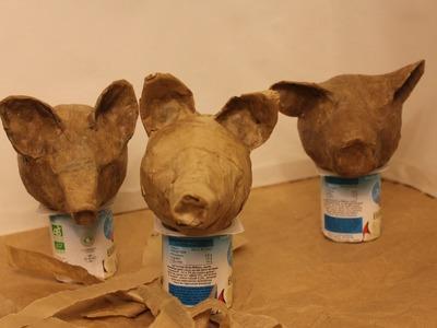 How to make papier mâché puppet heads ecologically. Marionnettes écologiques.Títeres ecológicos