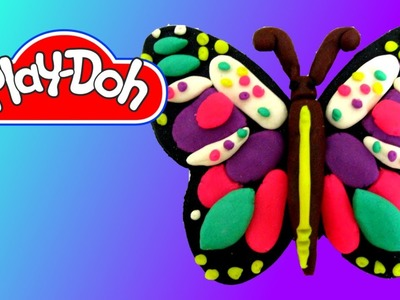 How to make Play Doh Butterfly #1 Colorful Butterfly
