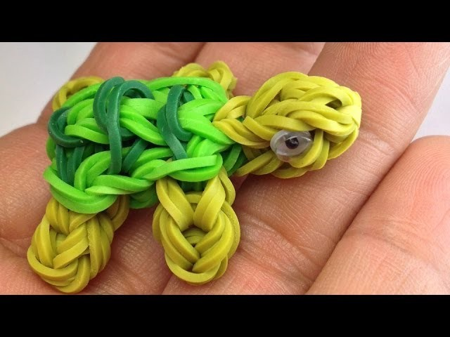 Making a Turtle Charm in the Rainbow Loom