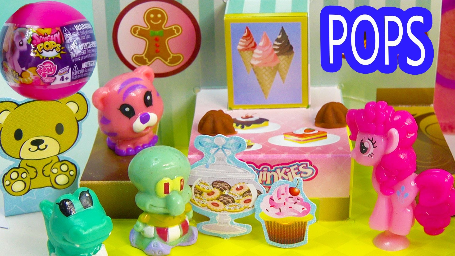 MLP Squishy POPS Blind Bag Balls Squinkies POP Up Playsets Bakery Beach Pinkie Pie My Little Pony