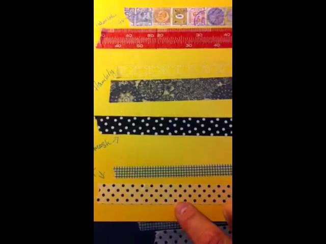 Overview of Washi, paper, and Tissue tapes