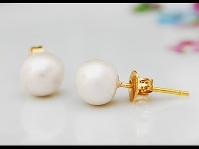 Pearls earrings and ring using polymer clay!