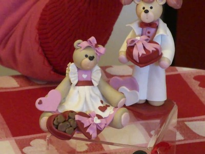 Personalized Valentine Ornaments - Polymer Clay