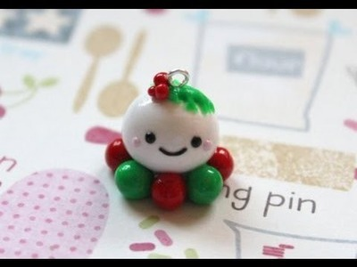 Polymer Clay: Christmas Octopus Charm Tutorial