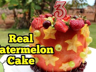 Real WATERMELON CAKE - 100% Fruit