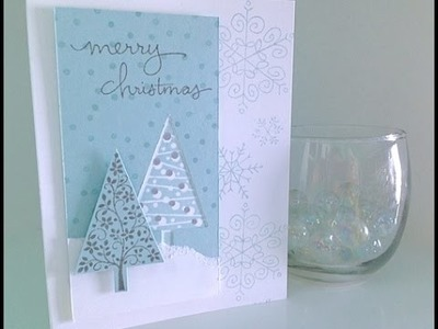 Simply Simple FLASH CARD - Wintertime Christmas Card by Connie Stewart