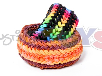 Snake Belly Bracelet - The Hardest and Most Difficult Rainbow Loom Design So far