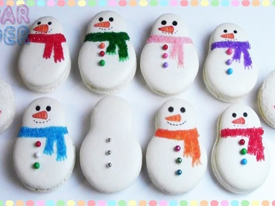 SNOWMAN MACARONS - SUGARCODER - COLLAB WITH COOKIES, CUPCAKES AND CARDIO