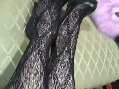 Aldo Shoes and Lace Tights 2
