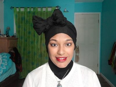 Bow Scarf Turban. Hijab. Headwrap Tutorial