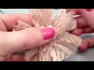 Fabric Flower Tutorial :)