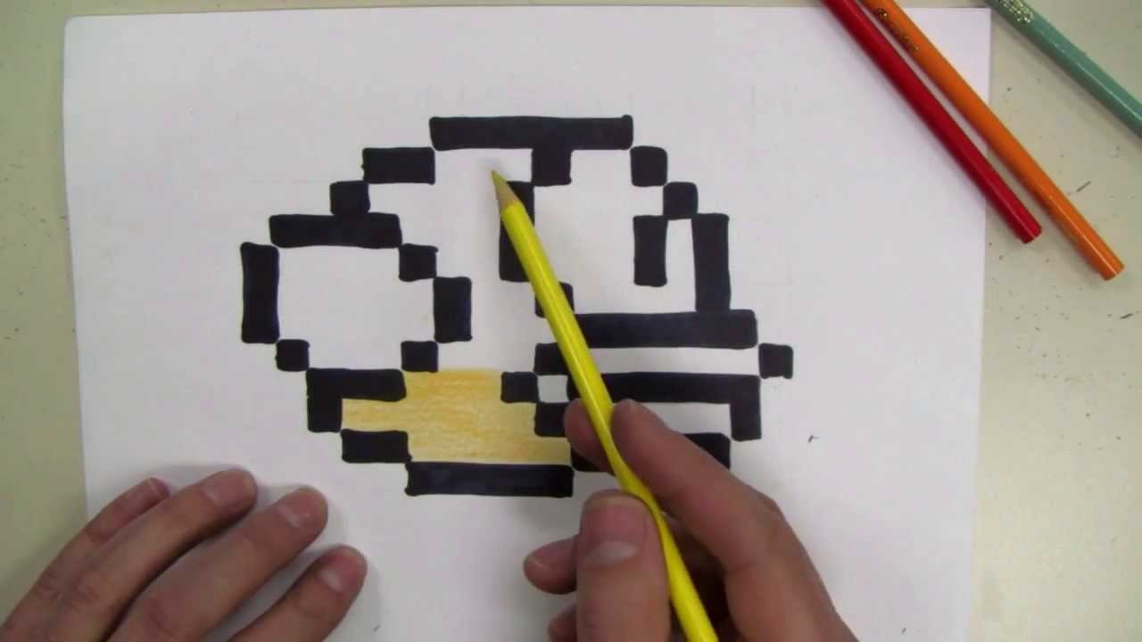 How To Draw: Flappy Bird  8-Bit! - make your own graph paper