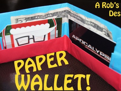 How to Make an Easy Paper Wallet! - Rob's World