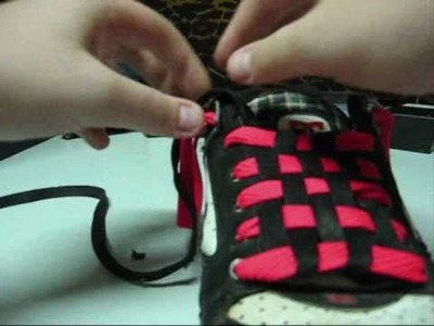 How to make checkerboard shoelaces