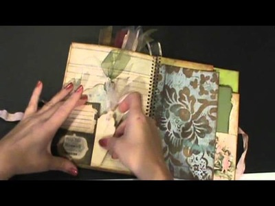 My first shabby chic smash book. junk journal. mini album