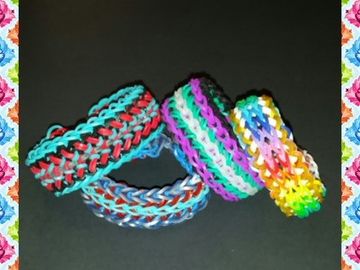 "NEW Reversible ""Swan"" Rainbow Loom Bracelet.How To Tutorial"