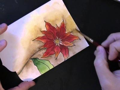 PB&J: Handmade Watercolor Christmas Card