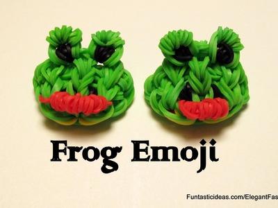 Rainbow Loom Frog Emoji.Emoticon charm - How to
