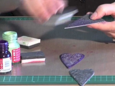 Scrap It TV: Stamping with Viva Decor Ferro Texture Paste
