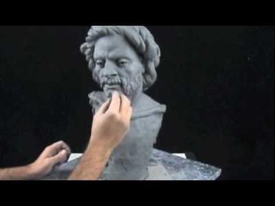 Sculpture demo - how to sculpt a portrait bust