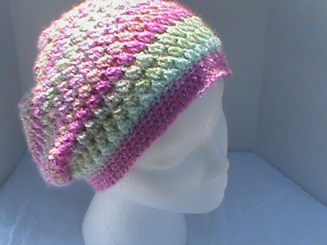 Slouchy Hat Featuring Meladoras Creations Butterfly Stitch