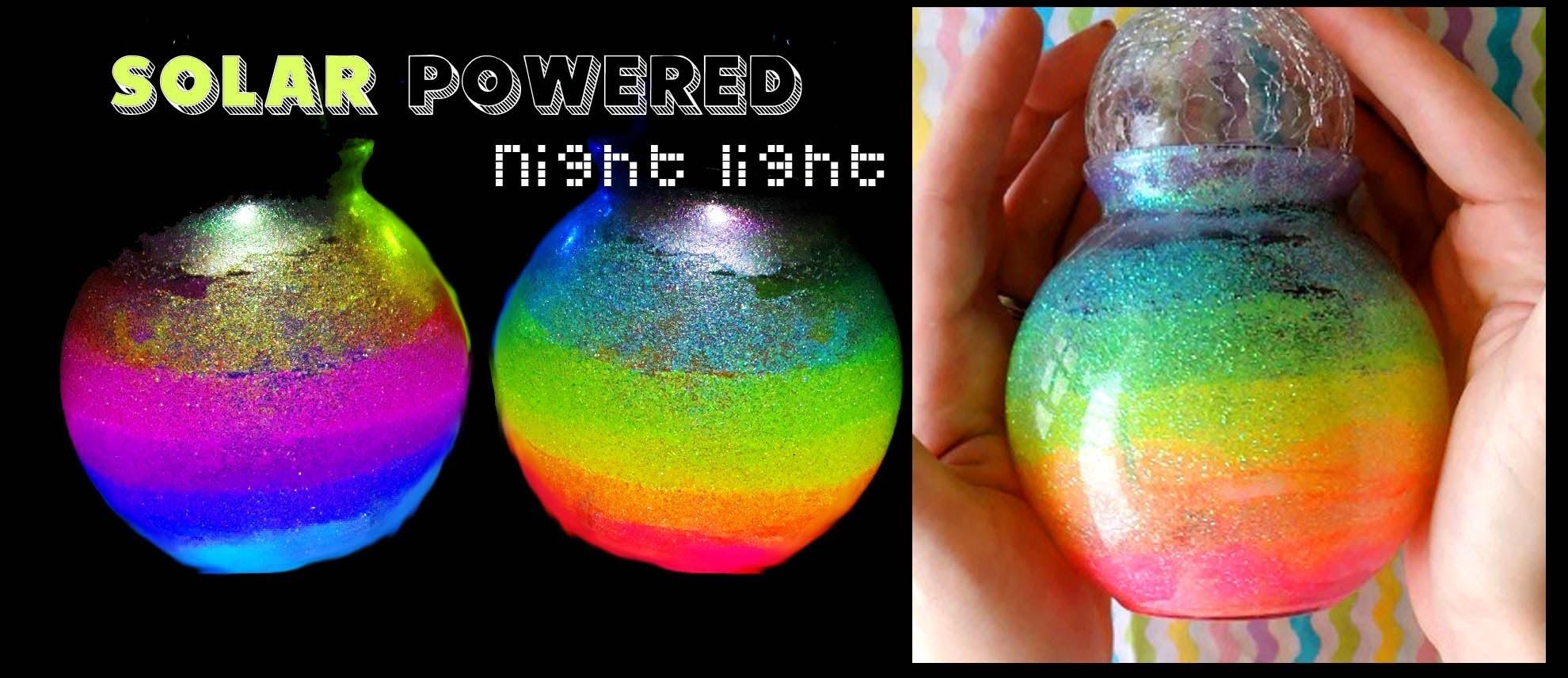 Solar Powered Rainbow NIGHT LIGHT